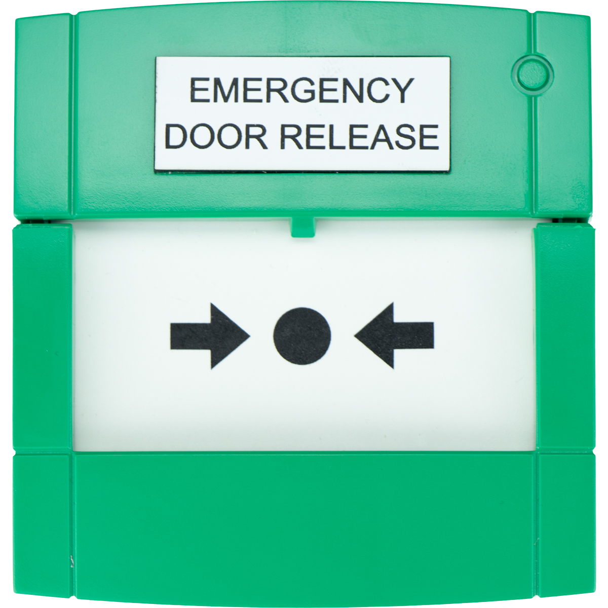 KAC manual call point green 'Emergency door release'